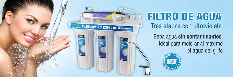 filtro de agua ultravioleta tres etapas
