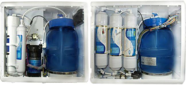 filtros y membrana de  la osmosis inversa