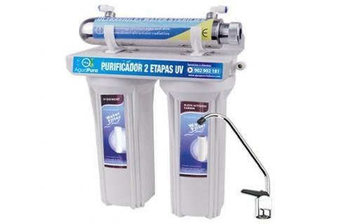 purificador de agua ultravioleta dos etapas