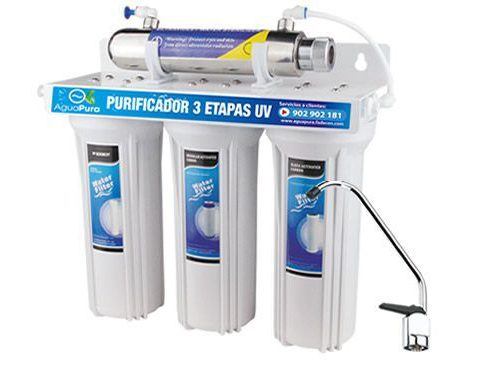 purificador de agua ultravioleta tres etapas